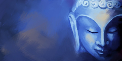 28Buddha34 - 48in X 24in,28Buddha34_4824,Buddism,God,Blue,Violet,Oil Colors,Canvas,Mauve,Rs.2990,Buddha;Latest Collection;By Orientation and Size/Horizontal/Large (33in to 40in);Full Collection,Community Artists Group