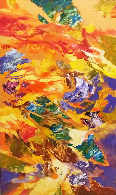 Solar Flare (ART_6679_38624) - Handpainted Art Painting - 36in X 60in