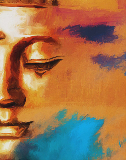 buddha, buddha abstract, buddha with closed eyes