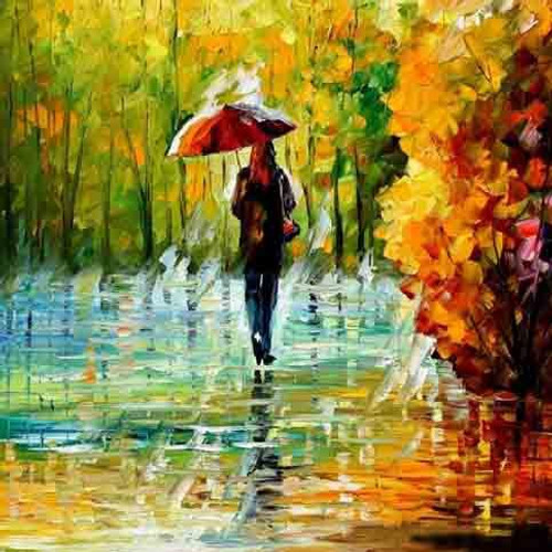 Lady in the rain,Rainy days