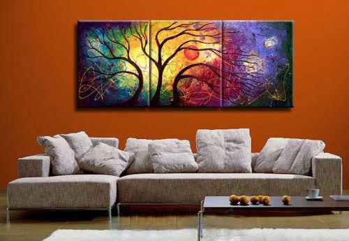 Muticolor Tree,Muticolor Background,Moon