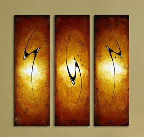 stokes, golden, gold, abstract, multi piece golden painting, gold and black