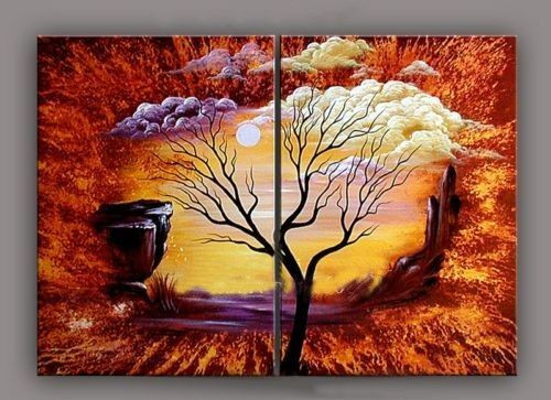 tree, sun, one tree, alone tree, multi piece tree