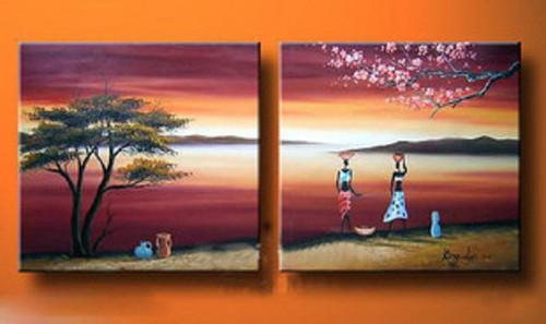 figure, lady, women, girl, ladies in morning, tree, way, road