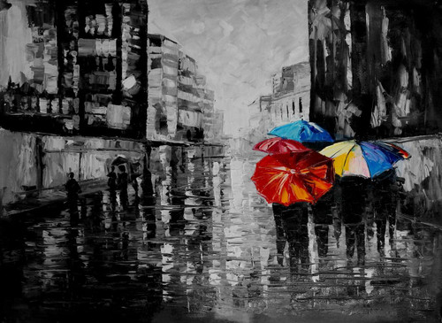 city, umbrella, people with umbrella, cityscape, road, rain, rainy city, city in rains