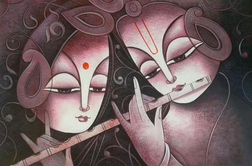 krishna, radha, radha krishna, krishna with flute, basuri