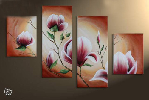 flower, flowers, blossom, blossoms, red flowers, rose, lily, white flower, multipiece flower painting, multipiece flower