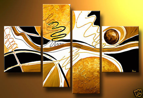 abstract, brown abstract, yellow abstract, multi piece abstract, multi piece yellow abstract, lines, curves, strokes, stroke abstract