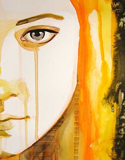 55Figure24 - 24in X 32in,55Figure24_2432,Oil Colors,Canvas,Yellow, Brown,Rs.3290,Modern Art;Figurative;Latest Collection;By Orientation and Size/Vertical/Medium (25in to 32in);Female,Lady,Girl,Full Collection,Museum Quality - 100% Handpainted