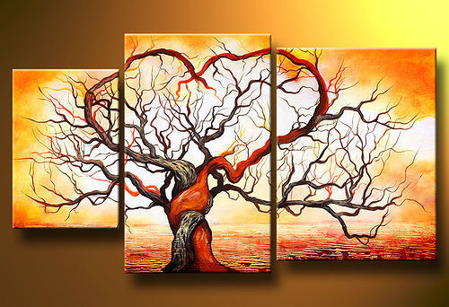 tree, multi piece tree, abstract, abstract tree, romance, love, heart,treee with heart, affection, fondness