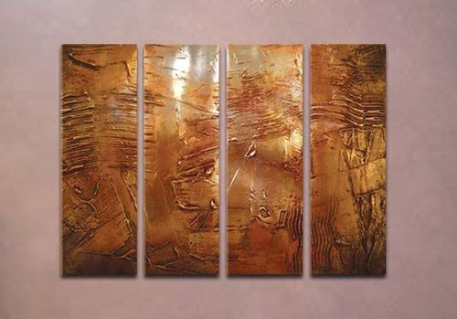 multi piece abstract, abstract,  golden , texture, golden textured painting, golden multi piece painting