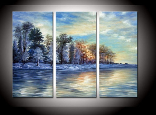 river, landscape, tree, tree near river, sun, river , tree, forest near river, multi piece river painting