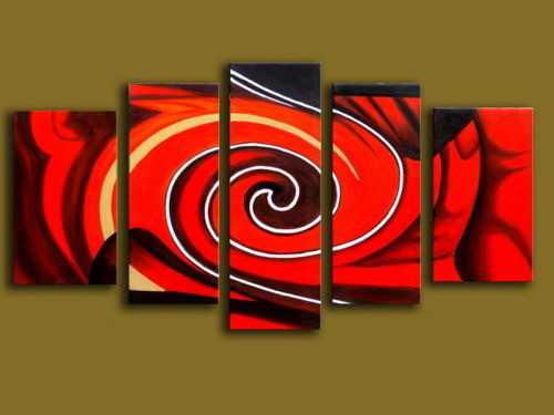 Red Abstract,Red Swirl,Red Circular Art