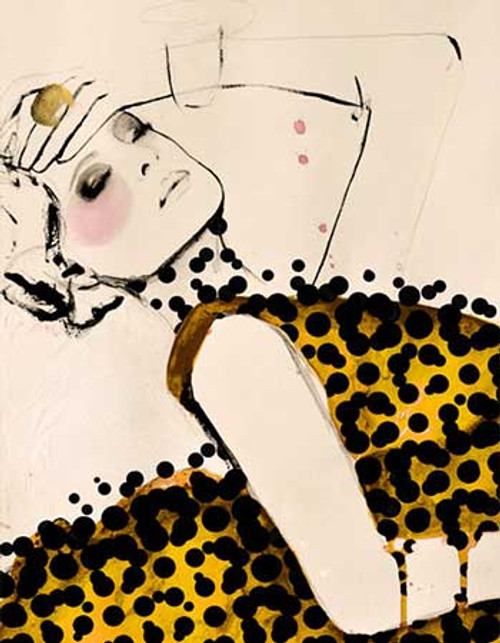 Modern83 - 24in X 36in,Modern83_2436,Yellow, Brown,Women,Lady,Rs.3490,Modern Art;Figurative;By Orientation and Size/Vertical/Large (33in to 40in);Full Collection