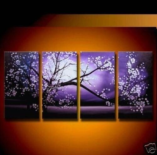 abstract, tree, sun, moon, one tree, lonely tree, abstract tree, mutipiece tree, flower, white flower