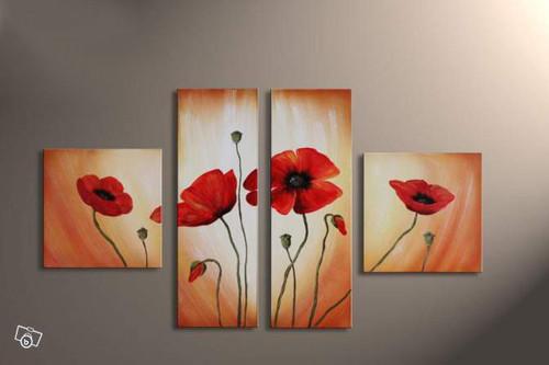 flower, flowers, blossom, red blossom, red flower,multi piece flower