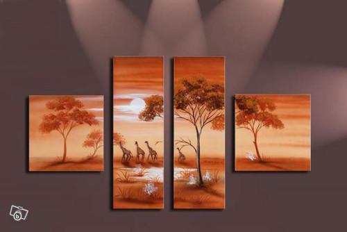 animals, jungle, forest, giraffe, wild animals, multi piece wild animals