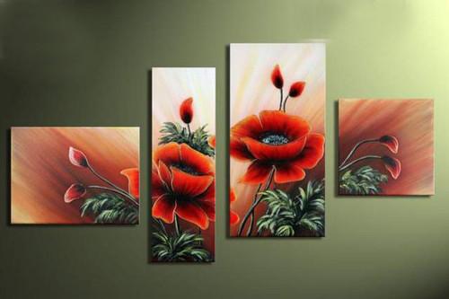 flower, flowers, blossom, red flower, multi piece flower