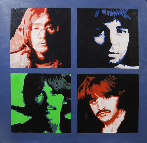 Beatles02 - 40in X 40in,FIZ009BTL_4040,Multi-Color,100X100,Modern Art Art Canvas Painting