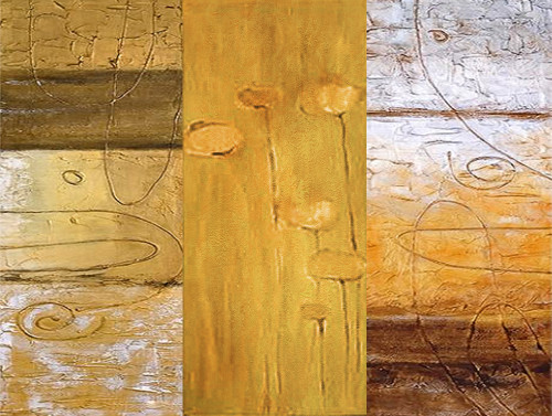 TexturedYellow - 24in X 18in,31Gold29_2418,Yellow, Brown,60X45,Gold and Silver Art Canvas Painting