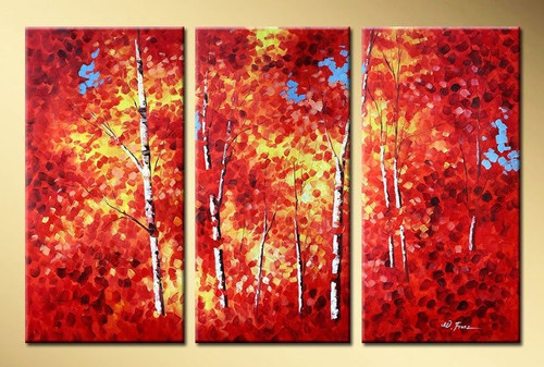 Beautiful Spring - 48in x 32in (16in x 32in X 3pc),RTCS_11_4832,Multipiece,Oil Colors,Canvas,Community Artists Group