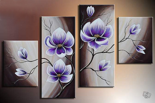 Flower, flowers, blossom, violet blossom, multi piece flower, multi piece violet flower