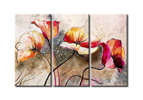 Flower flowers blossom red blossoms orange blossoms pink flowers red  sc 1 st  Buy Paintings Online India & Floral Paintings Online India | Shop Flower Paintings | Rose Roses ...