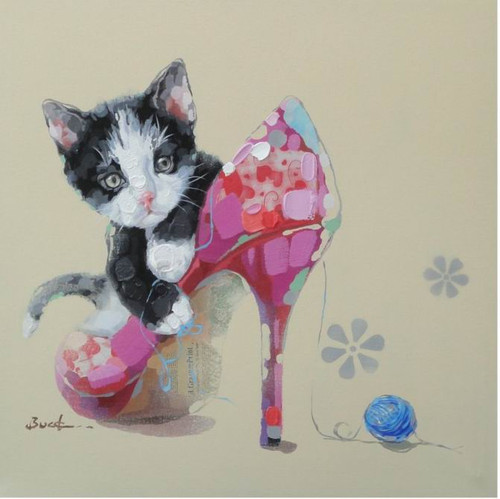 Cat with Shoe,Cat with Heels,Small Baby Cat, Cat Baby