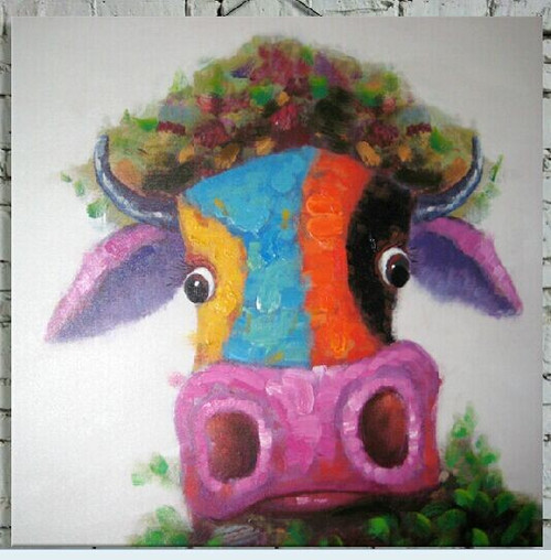 Cow,Colorful Cow,Cow Expression,funny Cow