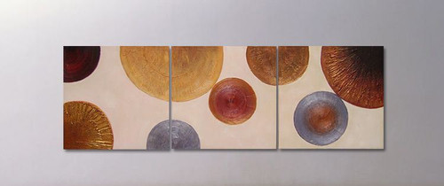 abstract, abstract circles, golden, silver circles, multi piece abstract circles
