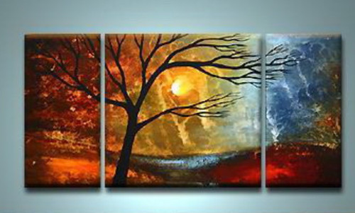 Survival - 48in x 24in (12in x 24in x2pcs.)+(24in x 24in x1pc.) ,RTCS_57_4824,Oil Colors,Canvas,48in x 24in (12in x 24in x2pcs.)+(24in x 24in x1pc.),Museum Quality - 100% Handpainted - Buy Canvas Painting Online in India.