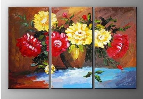 Multipiece,Pleasure - 33in X 32in (11in x 32in each X 3pcs.),RTCS_61_3332,Oil Colors,Canvas