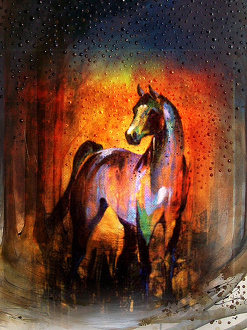horse, mult color horse, horses, orange horse, running horse