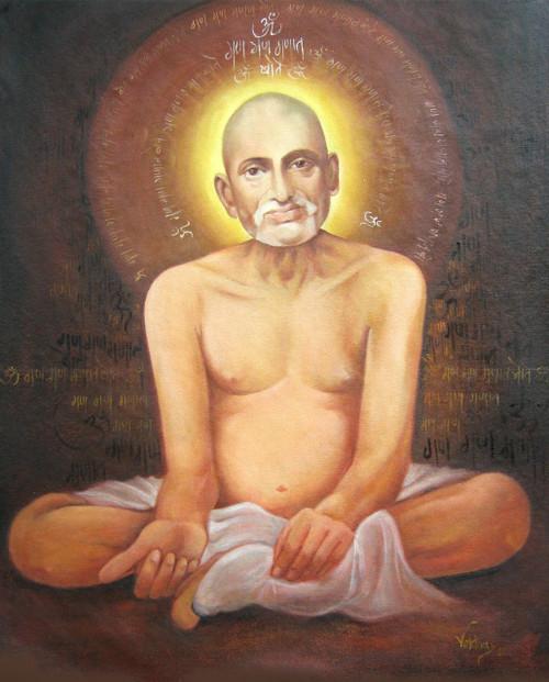 gajanan maharaj, painting of gajanan maharaj