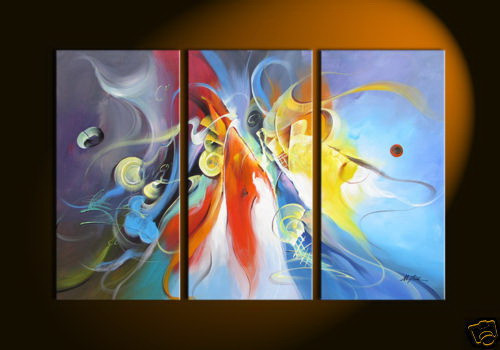 Color Hues - 48in x 32in (16in x 32in each x 3pcs.),RTCS_52_4832,Oil Colors,Canvas,48in x 32in (16in x 32in each x 3pcs.),Museum Quality - 100% Handpainted,mutipiece, paintings - Buy Canvas Painting Online in India.