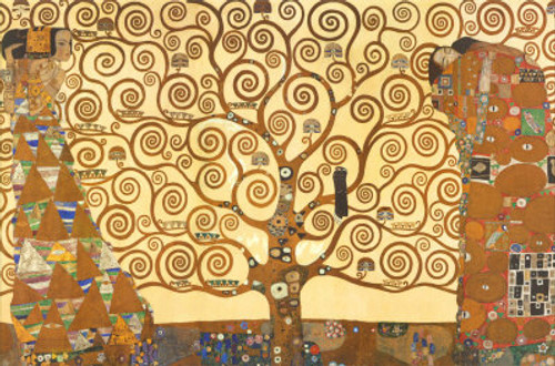 klimt04 - 40in X 30in,klimt04_4030,Yellow, Brown,100X75,Replicas Art Canvas Painting