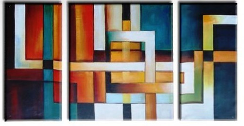 The Path - 48in x 24in(12in x 24in x2pcs.)+(24in x 24in x1pc.),RTCS_44_4824,Oil Colors,Canvas,Museum Quality - 100% Handpainted,multipiece paintings- Buy Canvas Painting Online in India.