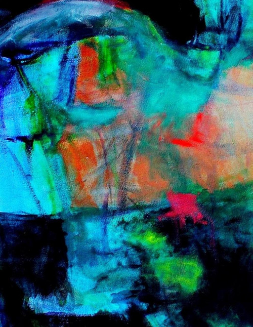 abstract, abstract painting , abstract ice painting, blue abstract,