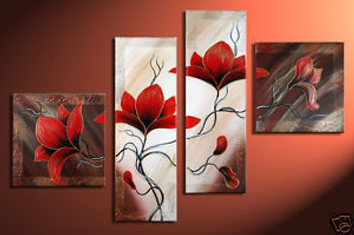 Live and Let Live - 64in X 36in (20in x 20in each x 2pcs.)+(12in x 36in  each x 2pcs.),RTCS_39_6436,Oil Colors,Museum Quality - 100% Handpainted,Modern Art,  Buy Painting Online in India.