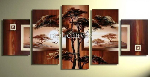 Tree Furnish 1 - 68in x 35in (Details Inside),RTCSB_04_68in x 35in,68in x 35in (14in x 20in x 2pcs) + (14in x 28in x 2pcs) + (12in x 35in x 1pc),Oil Colors,Canvas,Floral,Tree,Community Artists Group,multipiece,Museum Quality - 100% Handpainted