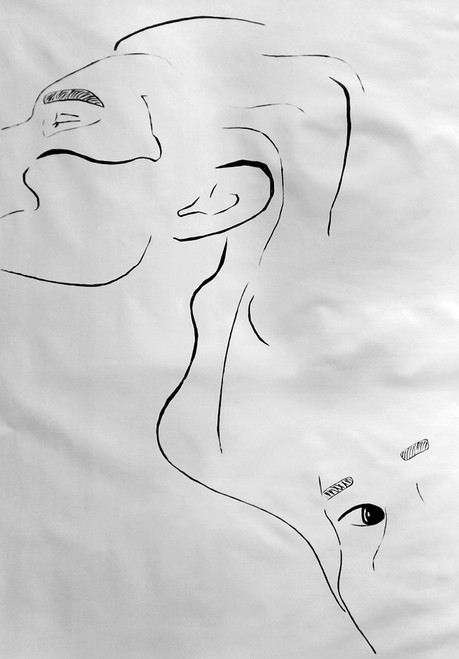 Face,Human Face,Human Looking,Eyes,Two faces,Magic of Lines