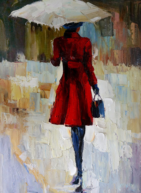 Women,Lady,Girl,Girlin Red Dress ,Girl with Umbrella,Going Out