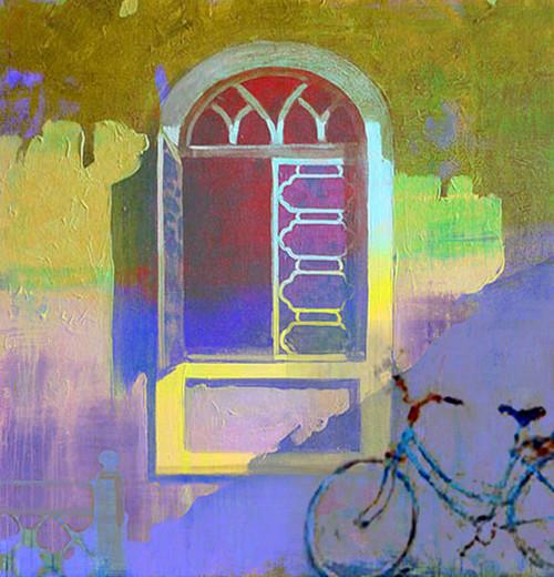 window, abstract window, window painting, cycle, bicycle,cycle near home, cycle near window