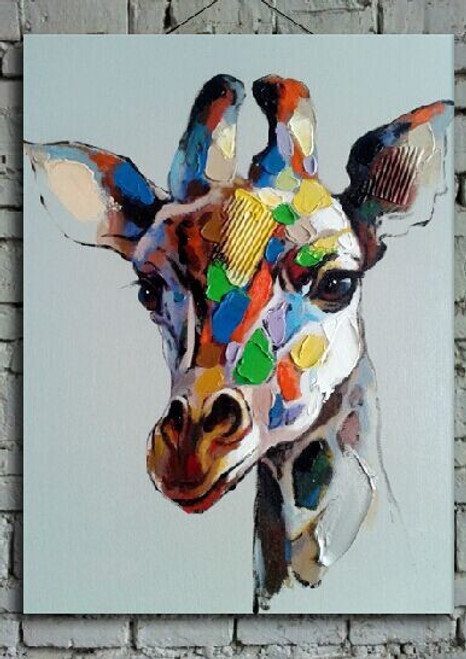 giraffe, multi color giraffe, wild animals