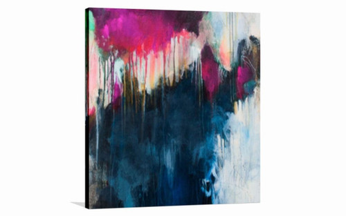 abstract, abstract painting, blue abstract, pink abstract