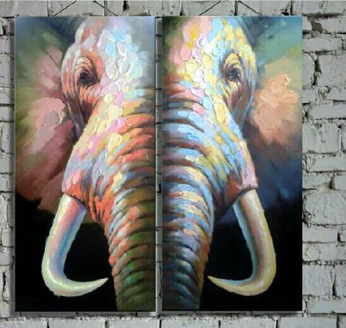 elephant, elephant painting, brown elephant, multi piece , multi piece elephant painting