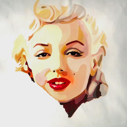marilyn monroe, pop art, pop art painting, portrait, portrait of marilyn monroe, famous figure, actress