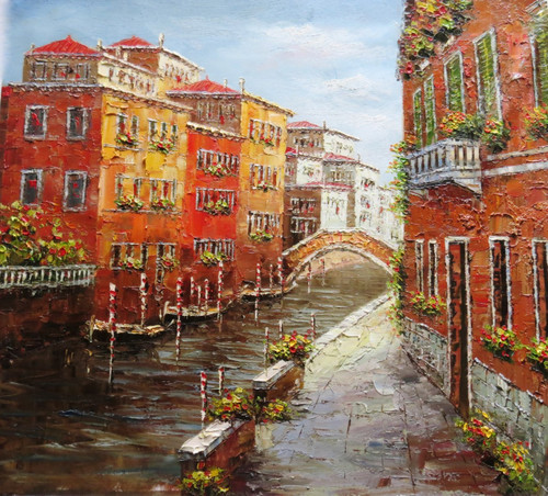 Venice 3 - 36in x 32in,RTCSB_18_3632,36in  x 32in,landscape,scenary,vience,potrait,Oil Colors,Canvas,Community Artists Group,Museum Quality - 100% Handpainted