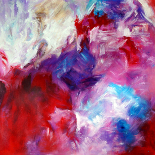 abstract, abstract painting,red abstract, patch of color,multi color abstract, pink abstract, rose colored