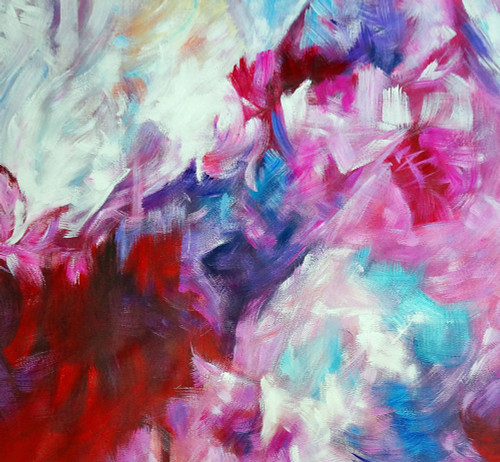 abstract, abstract painting,pink abstract, rose, rose colored